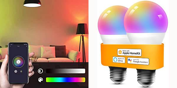 Pack 2x Bombilla LED inteligente Refoss WiFi