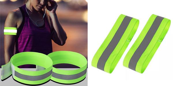 Pack x2 Brazaletes reflectantes elásticos baratos en Aliexpress