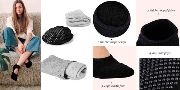 Pack de 2 pares de calcetines de yoga Tusscle para mujer barato