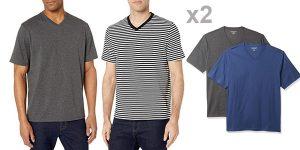 Pack x2 Camisetas de manga corta Amazon Essentials V-Neck para hombre baratas en Amazon