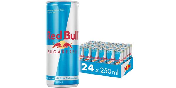 Pack x24 latas Red Bull Sin Azúcar de 250 ml/ud barato en Amazon