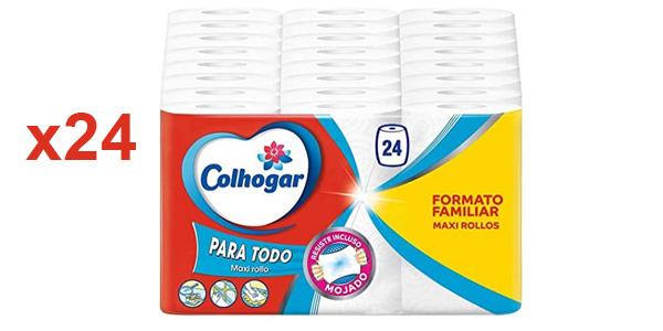 Pack x24 rollos de papel de cocina Colhogar Mega XXL barato en Amazon