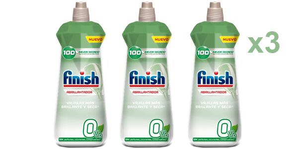 Pack x3 Finish 0% Abrillantador para lavavajillas de 400 ml (300 lavados en total) barato en Amazon