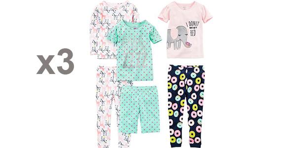 Pack x3 Pijamas Simple Joys by Carter's para niñas baratos en Amazon