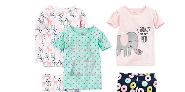 Pack x3 Pijamas Simple Joys by Carter's para niñas oferta en Amazon