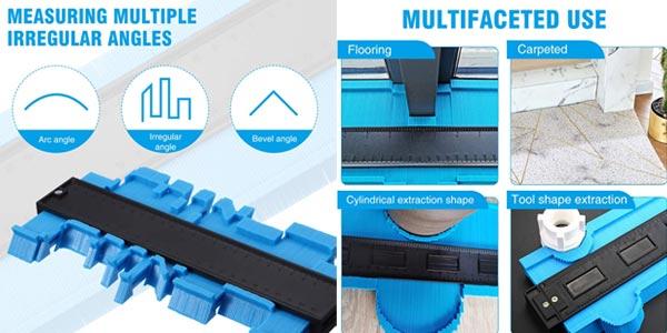 Pack x3 Medidores de perfil Liumy para cortes precisos oferta en Amazon