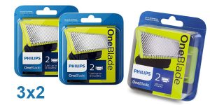 Pack 3x2 Cuchillas Philips OneBlade barato en Amazon