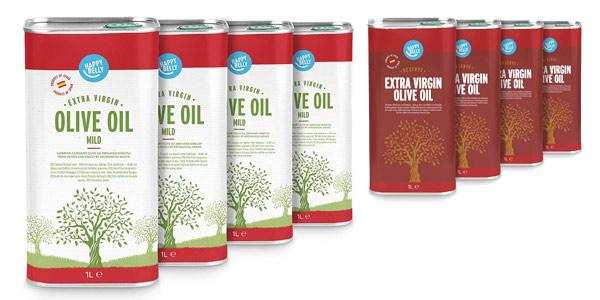Pack Marca Amazon Happy Belly 100% Aceite de oliva virgen extra española (4 litros) barato en Amazon