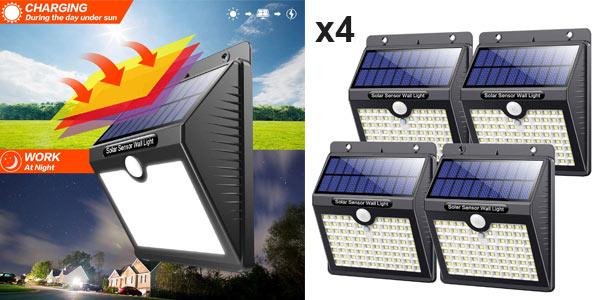 Pack x4 Focos LED solares para exterior Kilponen baratos en Amazon