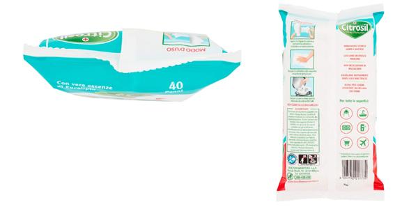 Pack x480 Toallitas higiénicas multiusos Citrosil eucalipto chollo en Amazon