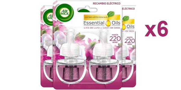 Pack x6 Recambios ambientador eléctrico Air Wick Satén de seda y Lirio de luna barato en Amazon