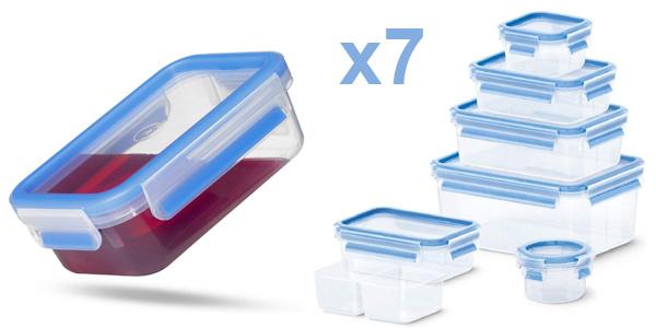 Pack x7 herméticos Emsa Clip & Close en diferentes medidas baratos en Amazon