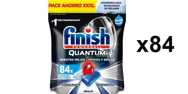 Pack x84 Pastillas lavavajillas Finish Powerball Quantum Ultimate barato en Amazon