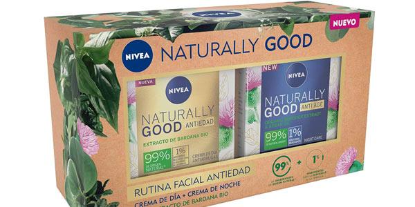 Pack Nivea Naturally Good Rutina Facial Antiedad barato en Amazon