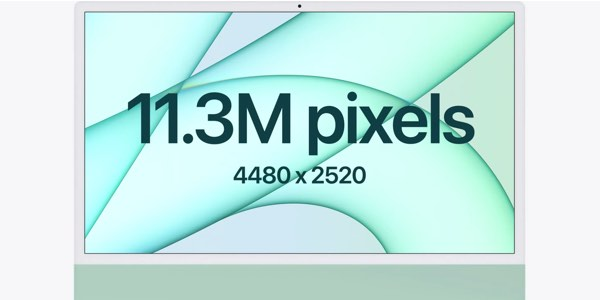 calidad pantalla iMac 24