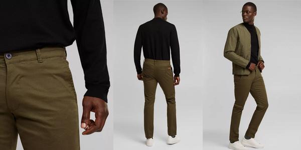 Pantalones chinos Esprit 998EE2B806 para hombre baratos en Amazon