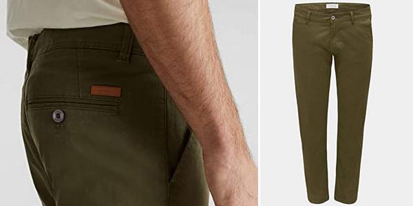 Pantalones chinos Esprit 998EE2B806 para hombre chollo en Amazon