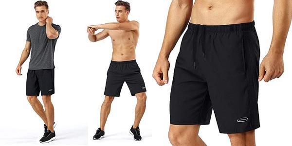 Pantalón corto deportivo Mobiusphy para hombre barato en Amazon