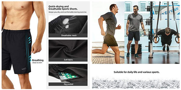 Pantalón corto deportivo Mobiusphy para hombre chollo en Amazon