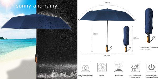 Paraguas plegable Echoice chollo en Amazon