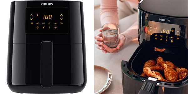 Freidora de aire caliente Philips Airfryer Essential de 1.400 W barata