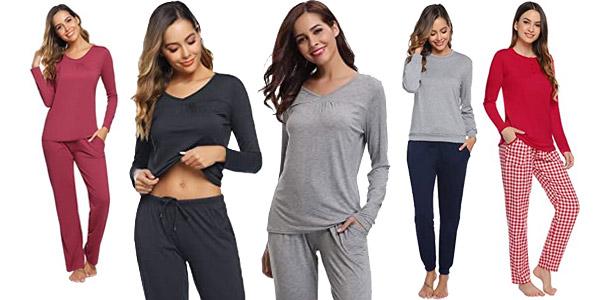 Pijamas de algodon Abollria para mujer baratos en Amazon