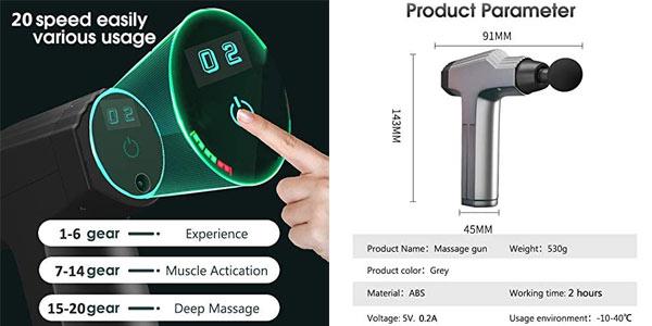 Pistola de masaje muscular en oferta