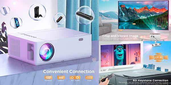 Proyector Bomaker Full HD de 7.800 lm con soporte 4K barato