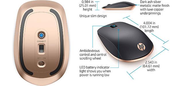 Ratón HP Z5000 inalámbrico Bluetooth de 1.2000 ppp barato