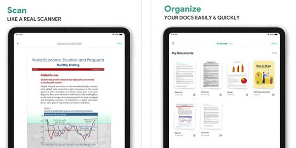 ScannerLens+ app móvil escanear documentos iPhone gratis