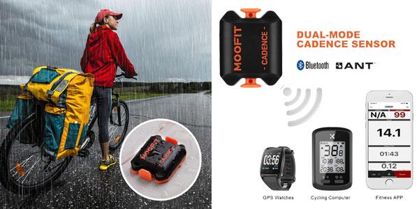 Sensor cadencia de ciclismo Moofit con Bluetooth y Ant+ oferta en Amazon