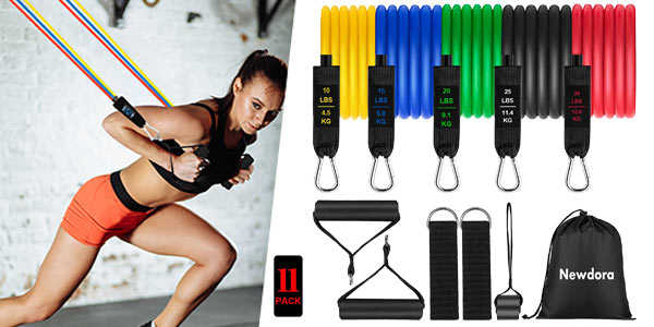 Set x11 Piezas deportivas con bandas elásticas + accesorios sujeción barato en Amazon