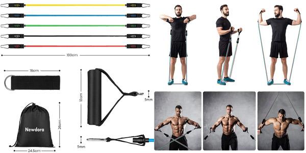 Set x11 Piezas deportivas con bandas elásticas + accesorios sujeción chollo en Amazon