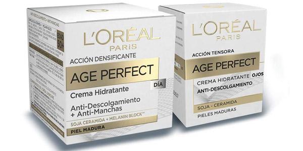Set de crema de día hidratante + contorno de ojos antiojeras de L'Oréal París Age Perfect barato en Amazon