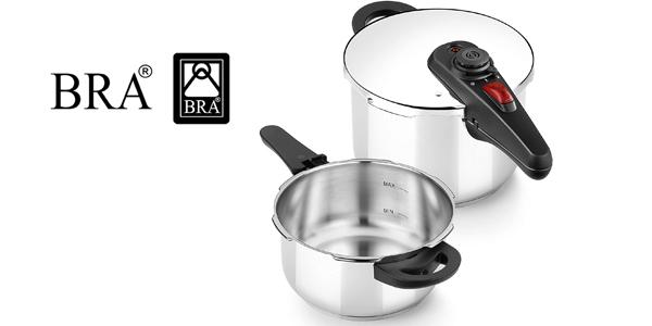 Set dúo de ollas a presión BRA Allure 4 + 6L barato en Amazon