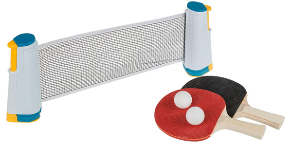 Juego de Ping Pong Idena (40204) con red, 2 paletas + 2 pelotas chollo en Amazon