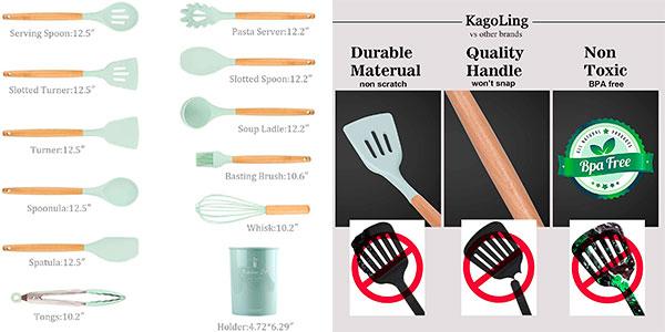 Set KagoLing de utensilios de cocina de 12 piezas barato