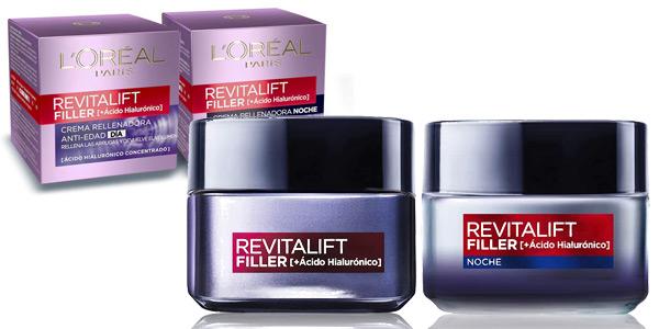 Set de Crema de día + Crema de Noche L'Oréal Paris Revitalift Filler de 50 ml/ud barato en Amazon