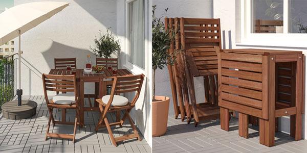 Conjunto de Mesa y 4 Sillas Ikea Applaro oferta en Ikea