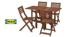 Conjunto de Mesa y 4 Sillas Ikea Applaro barato en Ikea