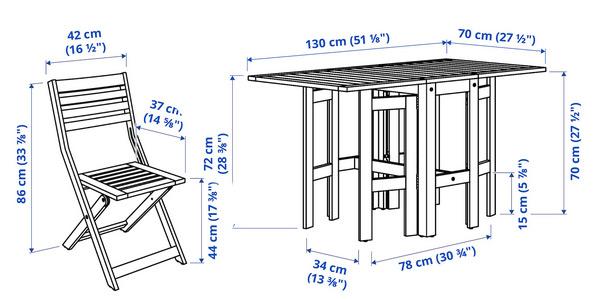 Conjunto de Mesa y 4 Sillas Ikea Applaro chollo en Ikea