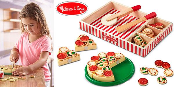 Chollo Set Pizza de madera Melissa & Doug con 54 ingredientes