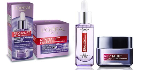 Set de sérum antiarrugas + crema de día L'Oréal París Revitalift Filler barato en Amazon