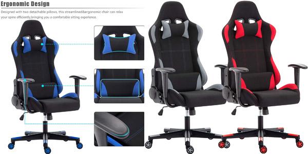 Silla gaming IntimaTe WM Heart con respaldo reclinable y altura regulable barata en Amazon