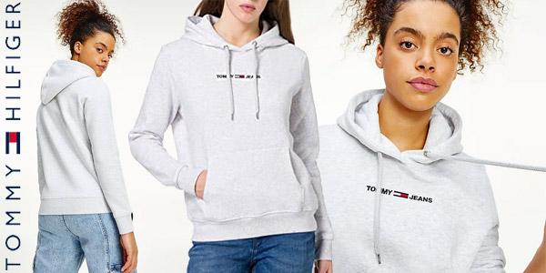 Sudadera con capucha Tommy Jeans Tjw Linear Logo para mujer barata en Amazon