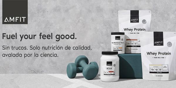 Envase 1 kg Proteinas Amfit Nutrition Cheesecake Limón chollo en Amazon