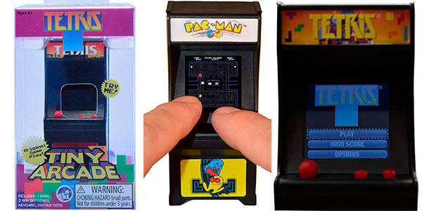 Ganga Llavero Tiny Arcade Tetris y Pac-Man