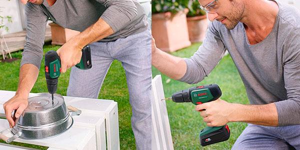 Taladro atornillador Bosch UniversalDrill 18 con batería y maletín barato