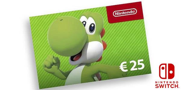 Tarjeta 25€ de sado para Nintendo eShop