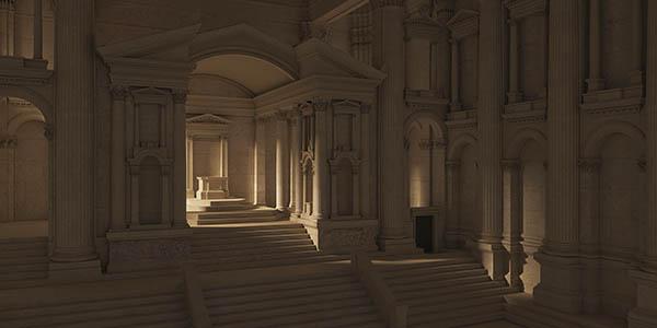 Templos Baalbek Líbano visita virtual recreación